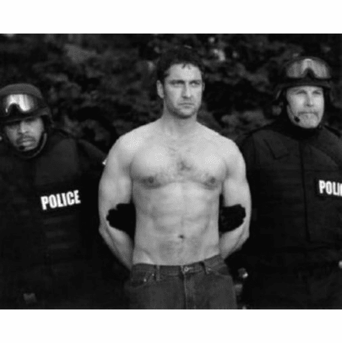 """Gerard Butler Black and White Poster 24""""x36"""""""