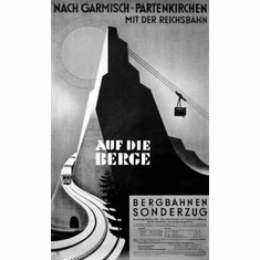 "Germany Auf Die Berge German Black and White Poster 24""x36"""