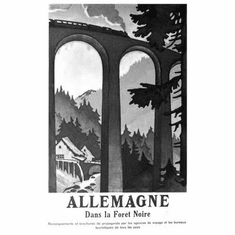 "Germany Black Forest Black and White Poster 24""x36"""