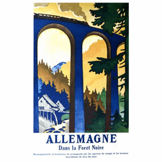 Germany Black Forest Poster 24in x36in