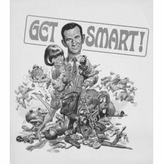 "Get Smart Black and White Poster 24""x36"""