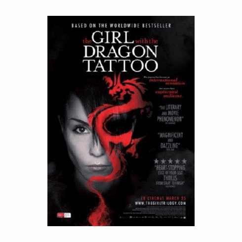 Girl With The Dragon Tattoo Movie Poster 24inx36in