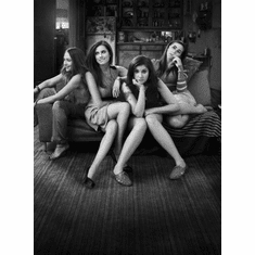 """Girls Black and White Poster 24""""x36"""""""