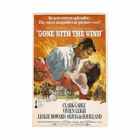 Gone With The Wind Movie Poster 24in x36 in