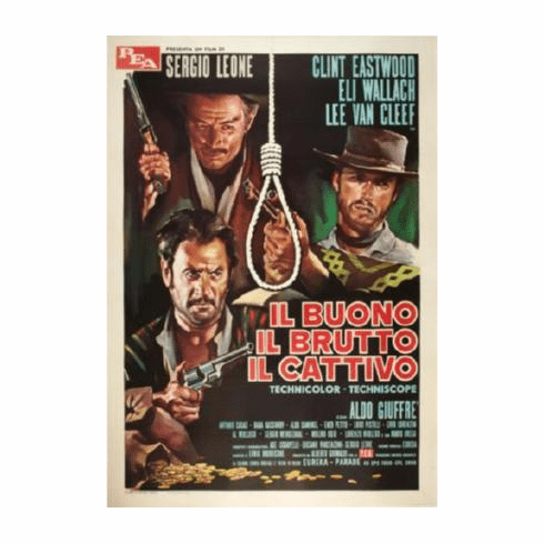 Good The Bad The Ugly Movie Poster Italian 24inx36in