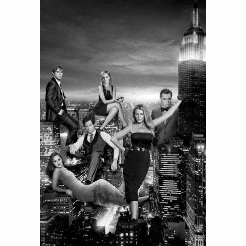 """Gossip Girl Black and White Poster 24""""x36"""""""