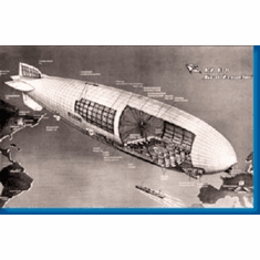 Graf Zeppelin Cutaway Aviation 8x10 photo Master Print