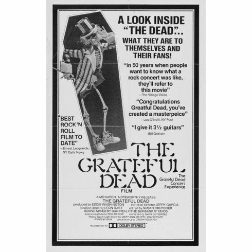 "Grateful Dead Black and White Poster 24""x36"""