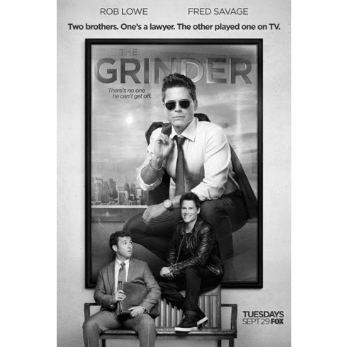 "Grinder Black and White Poster 24""x36"""