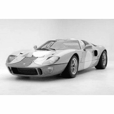 """Gt40 Black and White Poster 24""""x36"""""""