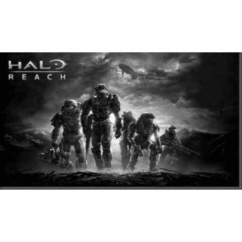 "Halo Reach Black and White Poster 24""x36"""