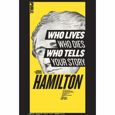 Hamilton Musical Who Tells Your Story Poster 24x36