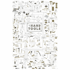 Hand Tools Reference Chart poster 24inx36in Poster