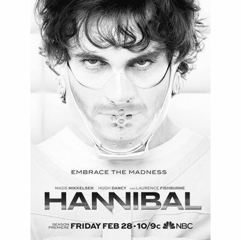 """Hannibal Black and White Poster 24""""x36"""""""