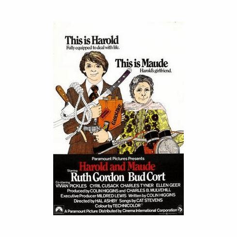 Harold And Maude Movie Poster 24in x36 in