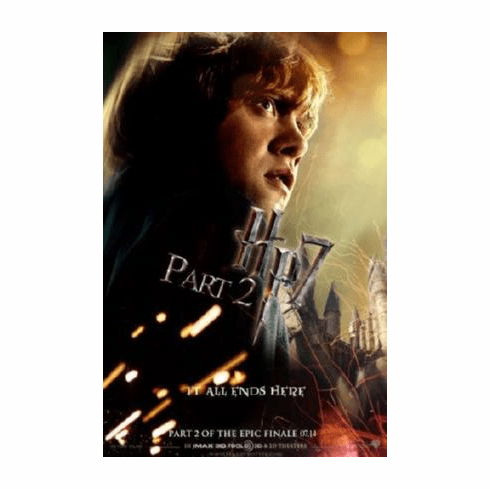 Harry Potter Deathly Hallows 2 Movie Poster #02 Rupert Grint 24inx36in