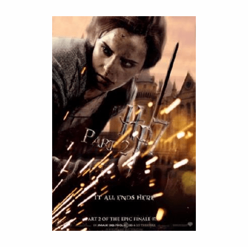 Harry Potter Deathly Hallows 2 Movie Poster Emma Watson 24inx36in