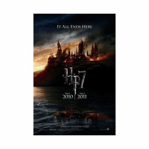 Harry Potter Movie Poster Deathly Hallows 24in x36 in