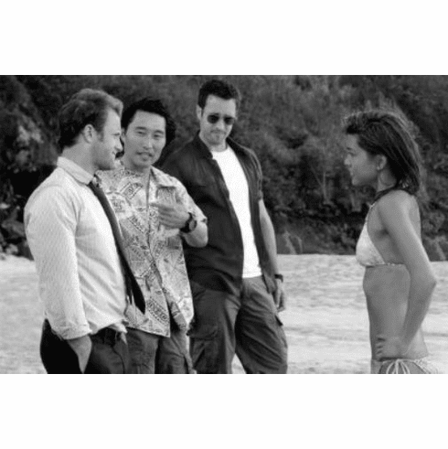 "Hawaii 5-0 Black and White Poster 24""x36"""