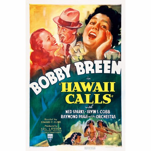 Hawaii Calls Movie Poster 24inx36in