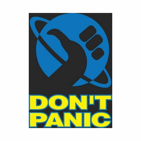Hitchhikers Guide To The Galaxy Movie Poster Don'T Panic 24in x36 in