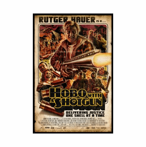Hobo With A Shotgun Movie Poster 24x36