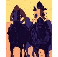 Horse Racing Pop Art 8x10 photo Master Print #01