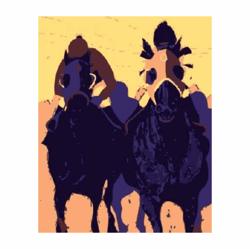Horse Racing Pop Art Poster 24inx36in