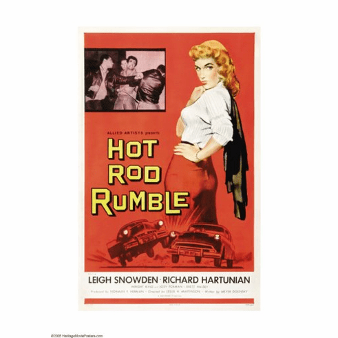 Hot Rod Rumble Movie Poster 24inx36in