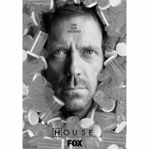 """House Black and White Poster 24""""x36"""""""