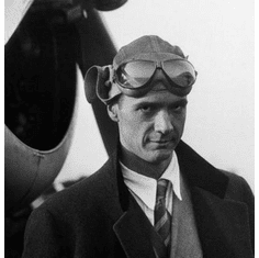 """Howard Hughes Black and White Poster 24""""x36"""""""