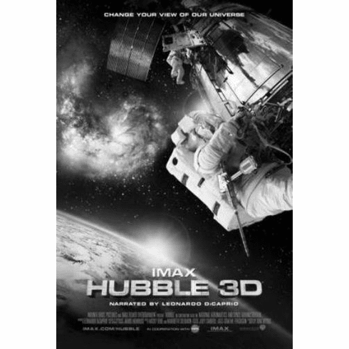 "Hubble Telescope 3D Black and White Poster 24""x36"""
