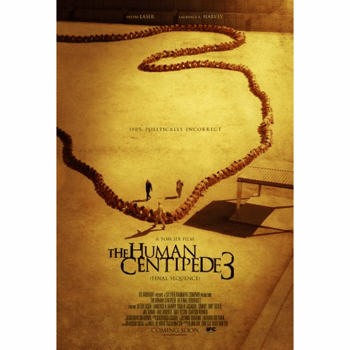 Human Centipede 3 Movie Poster 24in x36in