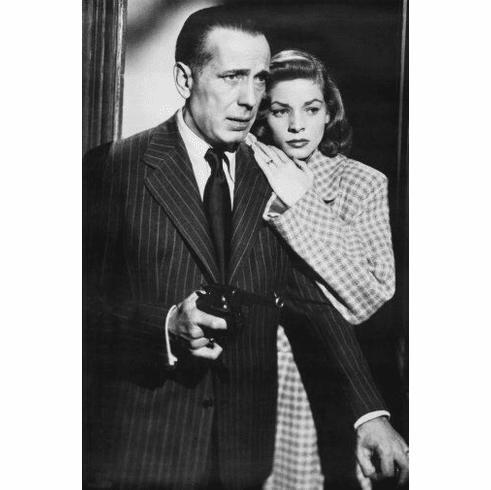 "Humphrey Bogart Black and White Poster 24""x36"""