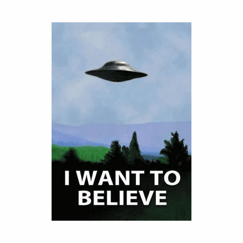 I Want To Believe X Files Poster 11x17 Mini Poster