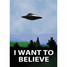 I Want To Believe X Files Poster 24in x36in
