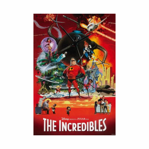 Incredibles The Movie Poster 24x36