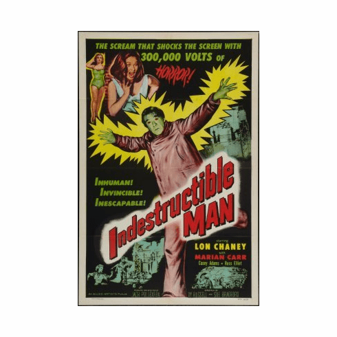 Indestructible Man Movie mini poster 11x17 #01