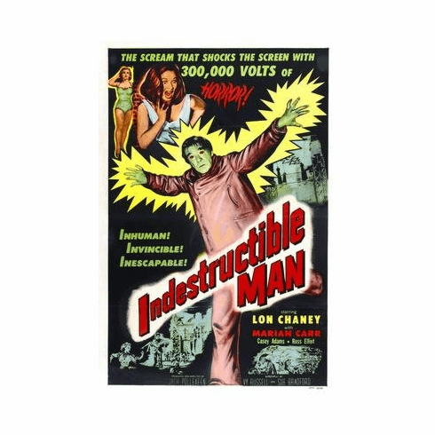 Indestructible Man Movie Poster 11x17 Mini Poster