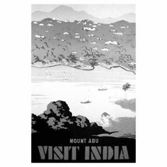 "India Mount Abu Black and White Poster 24""x36"""