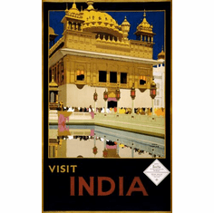 India Tourism Poster 24in x36in