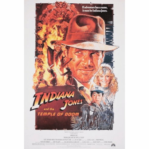 Indiana Jones Temple Doom Movie Poster 24inx36in