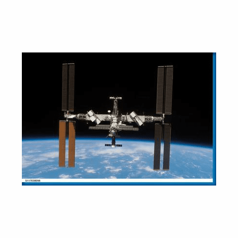 International Space Station Aviation Poster 24inx36in