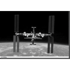 """International Space Station Black and White Poster 24""""x36"""""""