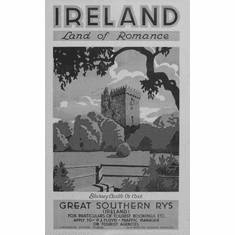 "Ireland Land Of Romance 1930 Black and White Poster 24""x36"""