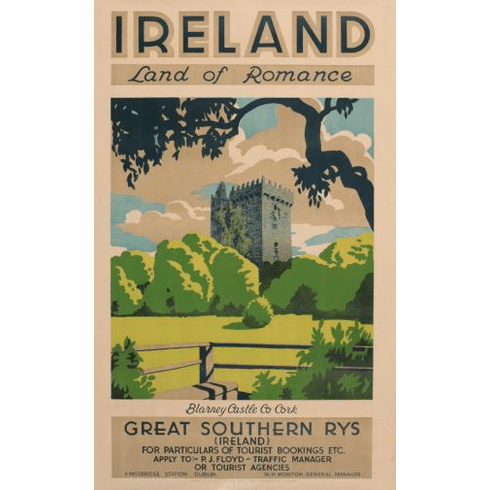 Ireland Land Of Romance 1930 Poster 24in x36in