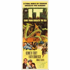 It Came From Beneath The Sea Movie Poster Insert 14x36