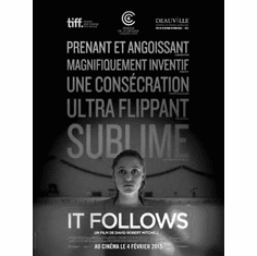 """It Follows Black and White Poster 24""""x36"""""""