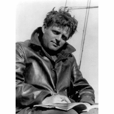 """Jack London Black and White Poster 24""""x36"""""""
