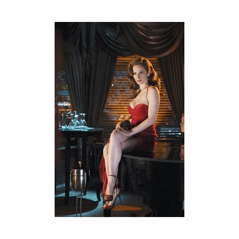 Jaime Ray Newman Poster Long Red Dress 24in x36 in